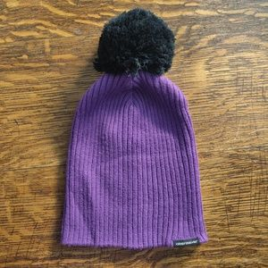 Obermeyer Wool Blend Ladies Purple Pom Winter Hat